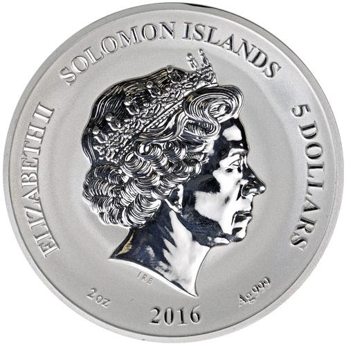 2 Oz Reverse Proof Solomon Islands Silver Griffin Coins L