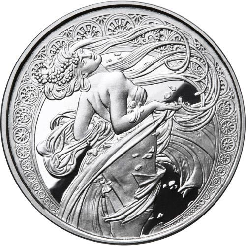 Buy 1 Oz Proof Mucha Collection Dance Silver Rounds L Jm