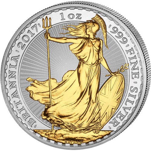 Buy 2017 Silver Gilded Britannias Online 1 Oz 999 L Jm