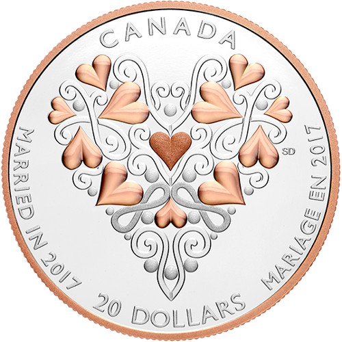 Wedding 2020 1oz Silver Proof Coin: 2017 Canadian Silver Best Wishes On Your Wedding Day Coin
