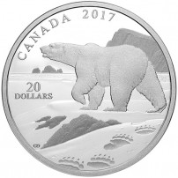 2017-1-oz-proof-canadian-silver-natures-impressions-polar-bear-rev