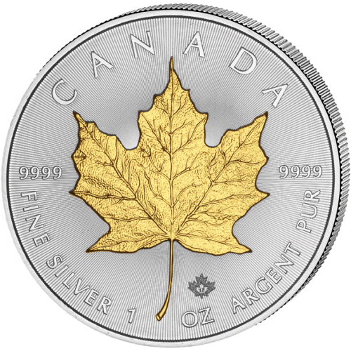 Buy 2017 Canadian Silver Maple Leaf Coin Gilded Bu Jm