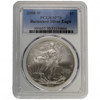 2008-W-Burnished-American-Silver-Eagle-Coin-PCGS-SP70