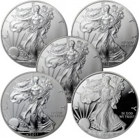 2011-American-Silver-Eagle-25th-Anniversary-5-Coin-Set-COINS