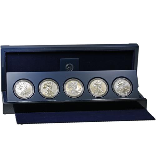 2011 American Silver Eagle 25th Anniversary 5 Coin Set L Jm Bullion