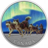 2017-1-2-oz-proof-canadian-silver-dog-sledding-under-northern-lights-rev