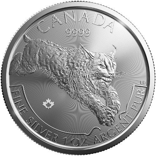 2017 Canada 1 Oz Silver Lynx Predator Series Coin Jmbullion