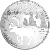 2017-30-proof-canadian-silver-endangered-animal-cutout-woodland-caribou-rev