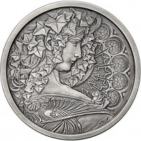 antique-mucha-collection-ivy-silver-rounds