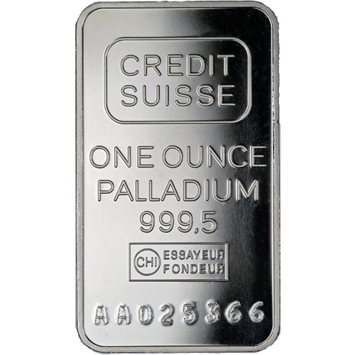 Buy 1 Oz Credit Suisse Palladium Bars L Jm Bullion