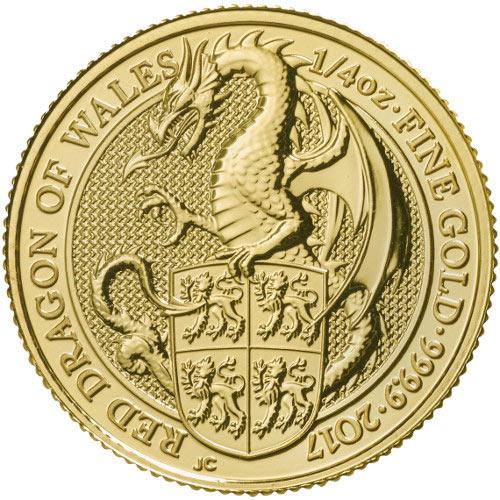 2017 1 4 Oz British Gold Queen S Beast Dragon Coins Online