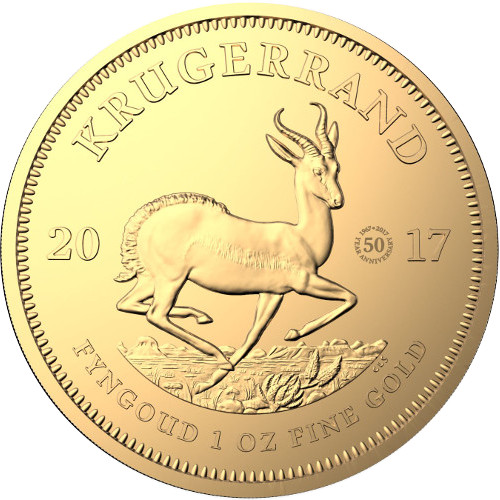 2017 1 Oz 50th Anniversary South African Gold Krugerrands