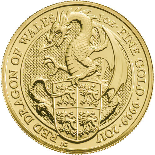 Buy 2017 1 Oz British Gold Queen S Beast Dragon Coins