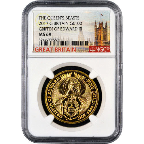 Buy 2017 1 Oz Gold British Queen S Beast Griffin Coins L