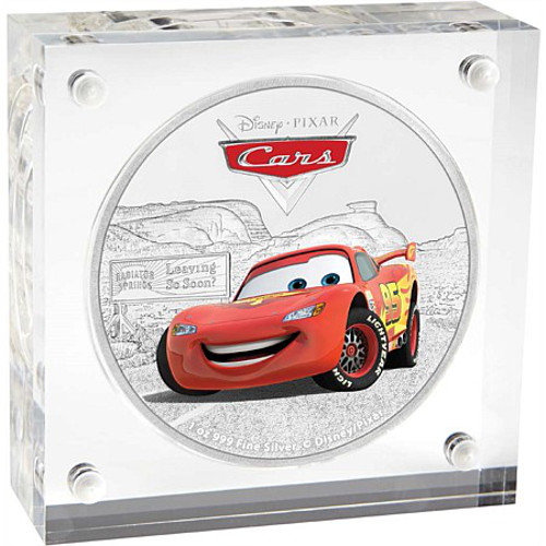 2017 1 Oz Niue Silver Cars Lightning Mcqueen Proof Coins L