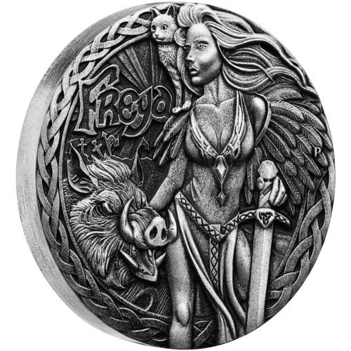 2017 2 Oz Tuvalu Norse Goddesses Freya Silver Coins L Jm