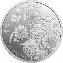 2017-1-oz-Proof-Canadian-Silver-Pearl-Flowers-Coin-front-coin