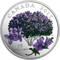 2017-3-4-oz-Proof-Canadian-Silver-Celebration-of-Spring-Lilac-Blossoms-coin-front-