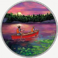 2017-3-4-oz-proof-canadian-silver-great-canadian-outdoors-sunset-canoeing-coin-rev1