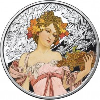 1-oz-proof-colorized-mucha-champagne-silver-round-obv