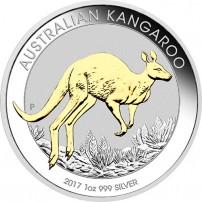 2017-1-oz-australian-silver-kangaroo-gilded-rev