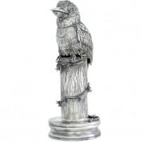 20-oz-Antique-Finish-Australian-Kookaburra-Silver-Statue1