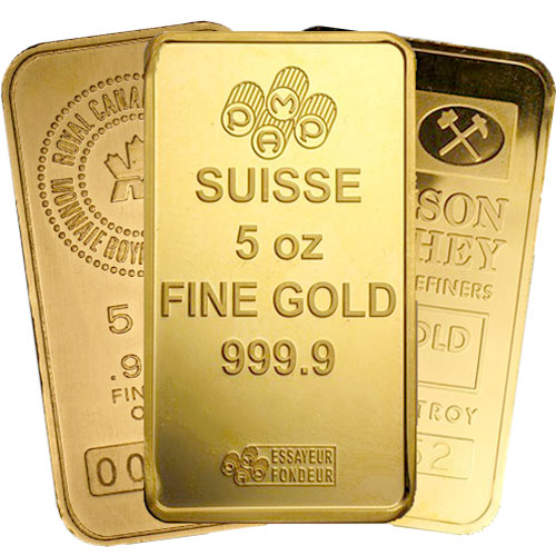 Buy 5 Oz Gold Bars Online Varied Brands L Jm Bullion