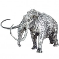 8-oz-Antique-Finish-Wooly-Mammoth-Silver-Statue