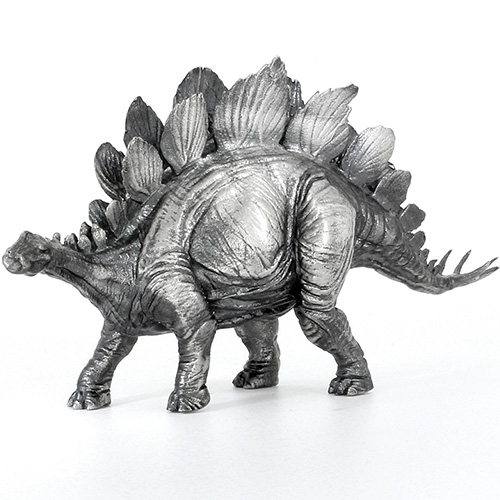 Buy 8 oz Antique Finish Stegosaurus Silver Statues | JM ...