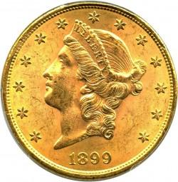 1899 Liberty Head 20 Gold Coin Value Jm Bullion