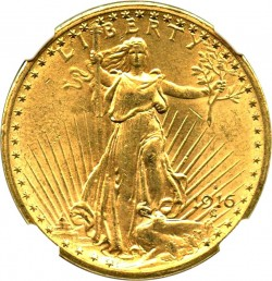 1916 St Gaudens 20 Gold Coin Value Jm Bullion