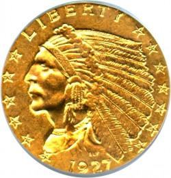 1927 Indian Head 2 5 Gold Coin Value Jm Bullion