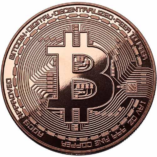 <bold>1</bold> oz Bitcoin Commemorative Copper Round