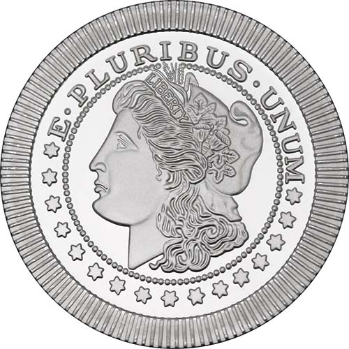 A-Mark Liberty Bell Stackable .999 FIVE 1 oz 5 Silver Round