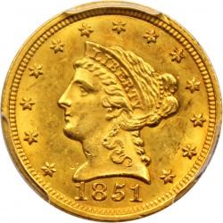 1851 Liberty Head 2 5 Gold Coin Value Jm Bullion