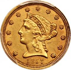 San Francisco Sales Tax 2017 >> 1857 Liberty Head $2.5 Gold Coin Value | JM Bullion™