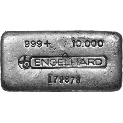 Buy 10 Oz Engelhard Poured Silver Bars Secondary Market