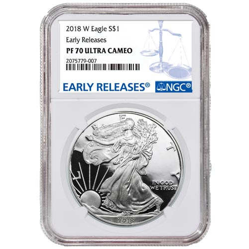 2014-W PROOF SILVER EAGLE NGC PF69 ULTRA CAMEO FIRST RELEASES SPECIAL STAR LABEL