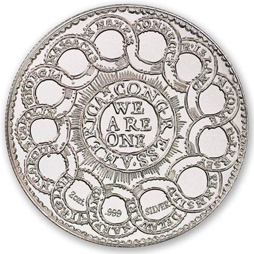 2 oz .999 Fine Silver Fugio Mind Your Business silver round*