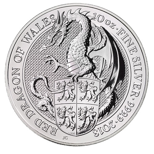 Buy 2018 10 Oz British Silver Queen S Beast Dragon Coins