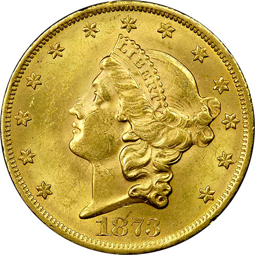 Buy 1873 S 20 Liberty Gold Double Eagle Coin Type 2 Xf