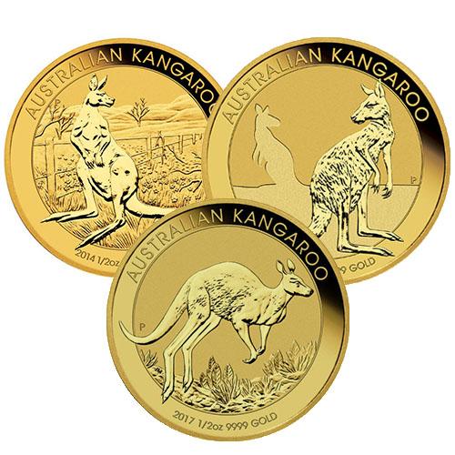 1 2 Australian Gold Kangaroo Random Year