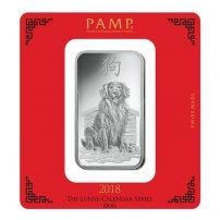 100 Gram Silver Bar Pamp Suisse Rosa