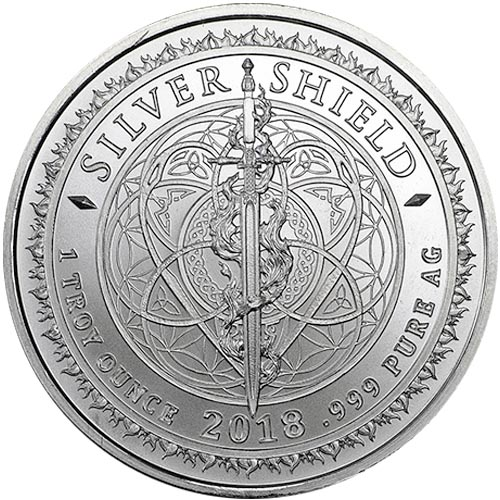 Buy 2018 1 Oz Crucifixion Silver Shield Round New