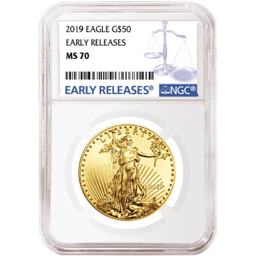 Buy 2019 1 Oz American Gold Eagle Coin Ngc Ms70 Er Jm