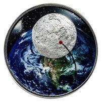Apollo 11 Moment of Silence 1 oz Silver Round Astronaut Armstrong USA Moon 50th