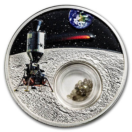 2019 1 Oz Proof 50th Anniversary Moon Landing Silver Coins