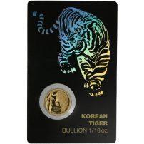 2018 1 10 Oz South Korean Tiger Gold Medal Bu W Ay