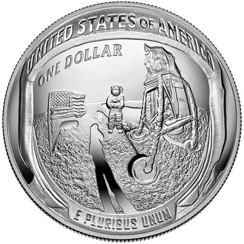 2019 Apollo 11 50th Anniversary $1 Silver BU Box /& CoA SKU#185470