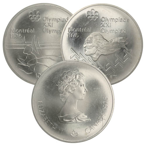 CANADA 1976 OLYMPIC $5 SILVER COIN *No 24**